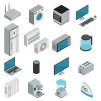 Electronics Isometric Set Vector Illustration