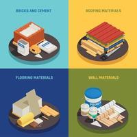 Building Materials Design Concept Vector Illustration
