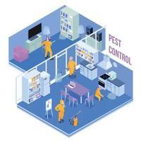 Ilustración de vector de ilustración isométrica de servicio de control de plagas
