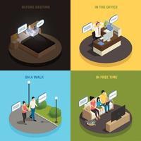 Gadgets Everywhere Design Concept Vector Illustration