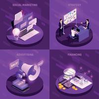 Marketing Neon Design Concept Vector Illustration