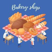 Bakery Shop Isometric Illustration Vector Illustration