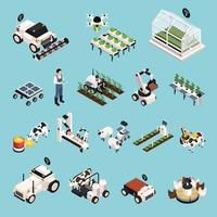 Smart Farm Set Vector Illustration