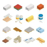 Construction Materials Icon Set Vector Illustration