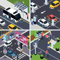 Smart City Concept Icons Set Vector Illustration