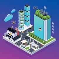 Smart City Composition Vector Illustration