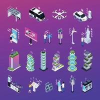 Smart City Set Vector Illustration