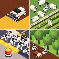 Smart Farm Concept Icons Set Vector Illustration