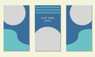 abstract with rainy water drops story template, social media post banner vector