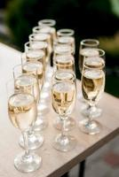 wedding glasses for wine and champagne photo