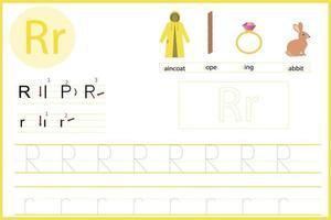 aprende la letra r vector