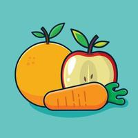 healthy food concept isolated cartoon illustration in flat style vector