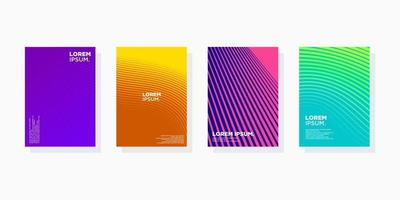 colorful minimal Modern cover abstract background covers set. Cool gradient shapes composition eps 10 vector