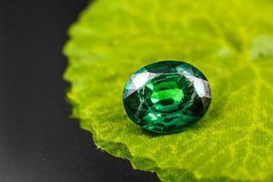 Green gemstone close-up photo