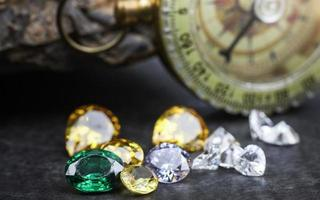 Collection of many natural gemstones photo