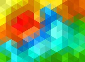 vector polygonal pattern, colorful gradient polygonal gradient, sticking colorful triangle and hexagons
