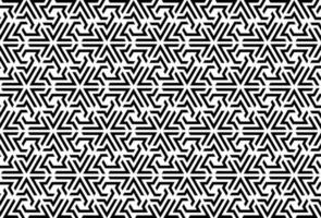 Triangle maze, labyrinth patter, black and white mosaic pattern, wrapping, textile, wallpaper, web, background vector
