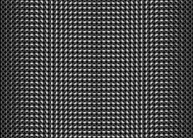 Dark dot background. Vector seamless rotating circles halftone gradient. Dynamic black and white backdrop. Monochrome geometric spots overlay.
