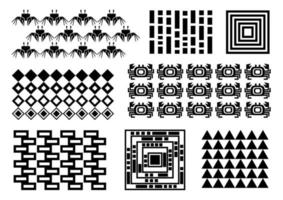 Memphis set, crabs, rectangles, triangles, crab pattern, repeating, cover design, black simple patterns memphis stile vector