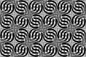 abstract seamless pattern, lines and twists, black and gray monochrome, ornate, strips, for cover, wallpaper, banner, cards, wallpapers and backgrounds vector