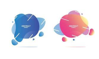 Abstract bubble design template vector