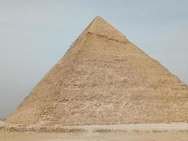 A view of the the Great Pyramid at Giza, Egypt photo