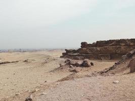 Ruin in the desert of Egypt photo