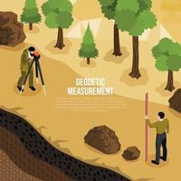 Geologist Work Isometric Composition Vector Illustration