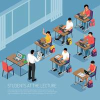Higher Education Isometric Illustration Vector Illustration