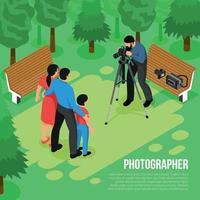 Photographer Isometric Composition Vector Illustration