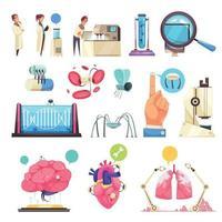 Nanotechnologies Decorative Icons Set Vector Illustration