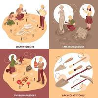 Archeology Isometric Design Concept Vector Illustration