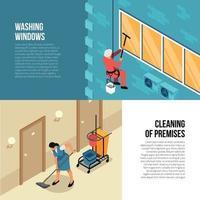 Ilustración de vector de servicio de limpieza industrial