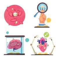 Nanotechnologies 2x2 design concept Vector Illustration