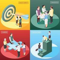 Isometric Success Design Concept Vector Illustration