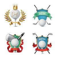 Golf Emblems Set Vector Illustration