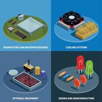 Semiconductor 2x2 Design Concept Vector Illustration