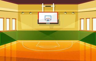 estadio de baloncesto de la escuela vector