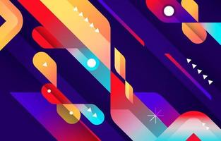 Contrast Colorful Abstract Background vector
