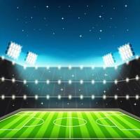 Football Stadium With Big Spotlight vector
