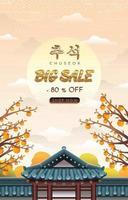 Chuseok Big Sale Poster Concept vector
