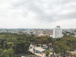 Kharkov city Ukraine  May 2019 The view from ferris wheel to Gorky Park photo