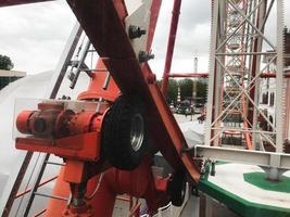 The electric motor with roller of the ferris wheel in Gorky Park, Kharkov, Ukraine photo
