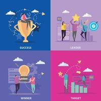 Successful Target Design Concept Vector Illustration