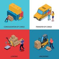 Delivery Isometric 2x2 Design Concept Vector Illustration