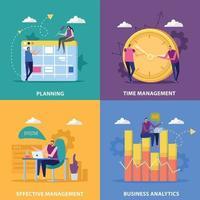 Perfect Management Design Concept Vector Illustration