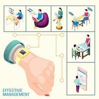 Management Connections Background Concept Vector Illustration