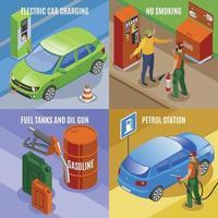 Ilustración de vector de concepto de diseño de coches de carga