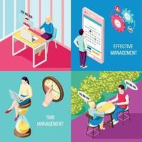 Management Collaboration Design Concept Vector Illustration