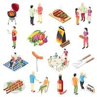 Barbecue Products Icon Set Vector Illustration